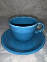 FIESTA Fiestaware Homer Laughlin China HLC Original Peacock Blue Cup And... - $11.29