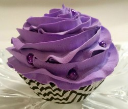 Purple Cupcake Faux Cupcake- Fake cake Decoration Prop - $5.93