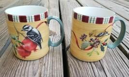 Lenox Coffee Mug Winter Greetings Woodpecker Goldfinch - $28.37