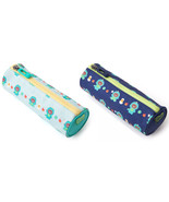 LINE Friends Dino BROWN Pencil Case Multi Storage Pouch Cosmetics Makeup... - $23.49