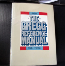 Vintage book The Gregg Reference Manual Sixth Edition 1985 Hard Cover - $7.70