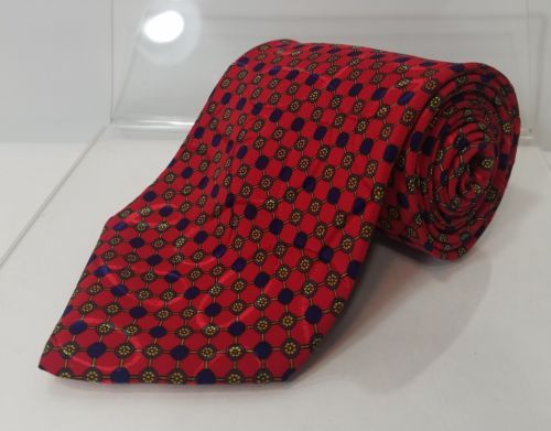 BRIONI MENS TIES AUTHENTIC ALL SILK RED MADE IN ITALY 59 INCHES X 4 INCHES WIDE