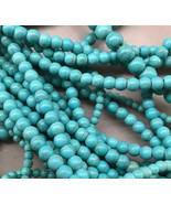 8mm Imitation Blue Turquoise Howlite Round Beads, 1 16in Strand, stone - $7.00