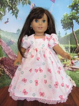 """homemade 18"""" american girl/madame alexander white butterf nightgown doll clothes - $19.60"""