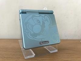 Nintendo Game Boy Advance Gba Sp Custom Mario Blue System Ags 001 Mint New - $94.14