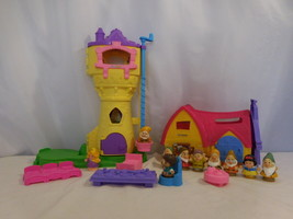 Fisher-Price Little People Disney Princess Rapunzel Tower + Snow White C... - $52.50