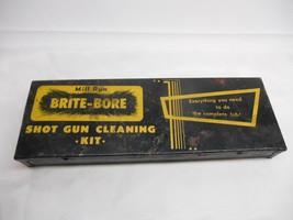 Old Vtg MILL RUN BRITE-BORE SHOT GUN CLEANING KIT Hunter  Advertising Hu... - $19.79