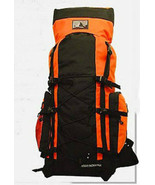 ORANGE Extra Large Backpack Camping 4300 CI Hiking Pack Hunting Internal... - $48.49