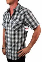 Levi's Men's Cotton Short Sleeve Button Up Casual Dress Shirt 3LYSW061CC-GRY image 3
