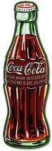 COKE Bottle c1923  Die Cut Embossed Premium Metal Tin Sign Vintage Garag... - $61.88