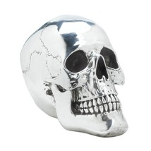 Smiling Silvery Skull Decor - $37.90