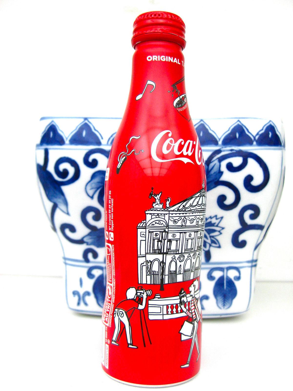 2 Coca Cola Coke Zero Aluminum Bottle from France REPUBLIQUE and OPERA