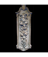 Dried Roses large  Decorative Wall Relief Sculpture Plaque - $216.81