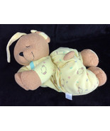 Kids II Praying Hands Musical Teddy Bear Yellow Pull String Baby Plush S... - $38.59