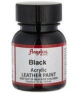 Angelus Acrylic Leather Paint - Black 1 oz. Bottles - $1.57