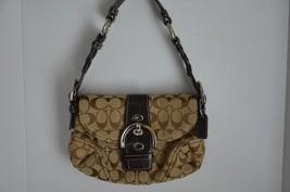 Coach Classic Brown Jacquard Leather Handbag Purse - ₹1,762.27 INR