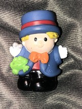 Little People Fisher Price Boy Woth Hat And Frog Gloves Blonde Hair - $10.89