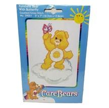 "NEW CARE BEARS 2004 FUNSHINE BEAR COUNTED CROSS STITCH KIT # 39051 5"" X 7"" - $23.38"