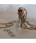 Handmade Glass Bottle Necklace Zip Clips Walking Dead Theme Arrows Zombie WD Tag - £19.11 GBP