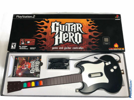 Guitar Hero Bundle for PlayStation 2 PS2 w/ Guitar, Game, Strap and Box ... - $69.99