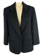 The Limited Black Blazer Woman's Size S Wool Blend Single Button - $22.72