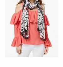 Calvin Klein Floral-Print Chiffon Scarf (One Size, multicolor/ Rose Quartz) - $19.59