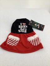 I Love Rock N Roll & Santa Dog Christmas Dress Size XS  - $5.89