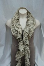 Charter Club Boa Scarf Wheat Brown Multi Acrylic Chenille Knit Winter Sc... - $14.27