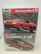 AMT CHEVROLET CAMARO Z/28 & Revell Mustang Mach III Model Kits 1:25 - $29.02