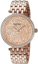 Caravelle New York Women's 44L222 Crystal Rose Gold Tone Watch - $256.90