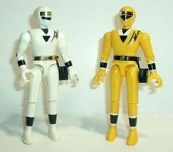 "Vintage 1995 Bandai Alien Power Rangers Action Figures Yellow & White, 4.75"" - $69.95"