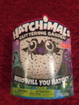 Hatchimals Glittering Garden Hatching Egg Interactive Cre Garden Green o... - $64.99