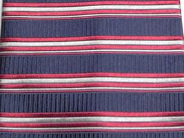 GEOFFREY BEENE Striped Tie Necktie Red Blue Silver Silk - $15.51