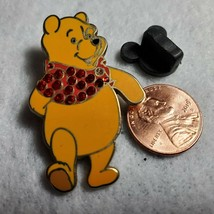 Disney Pin Jeweled Shirt Winnie the Pooh missing one jewel 2007 Jewel PB... - $7.84