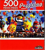 Cra-Z-Art Fun Shaped Hot Air Balloons - 500 Piece Jigsaw Puzzle - Puzzlebug - $10.38
