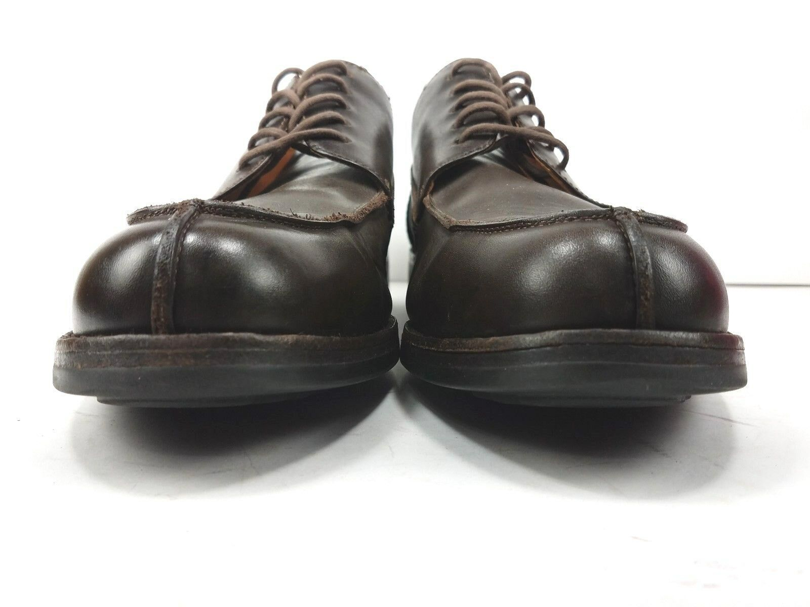 COLE HAAN Mens Size 10.5 M Oxfords Rugged Casual Brown Leather VIBRAM Soles
