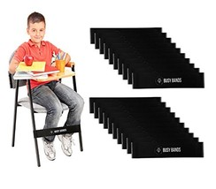 Busy Bands : Chair Bands for Kids with Fidgety Feet : Fidget Bands for S... - £48.00 GBP