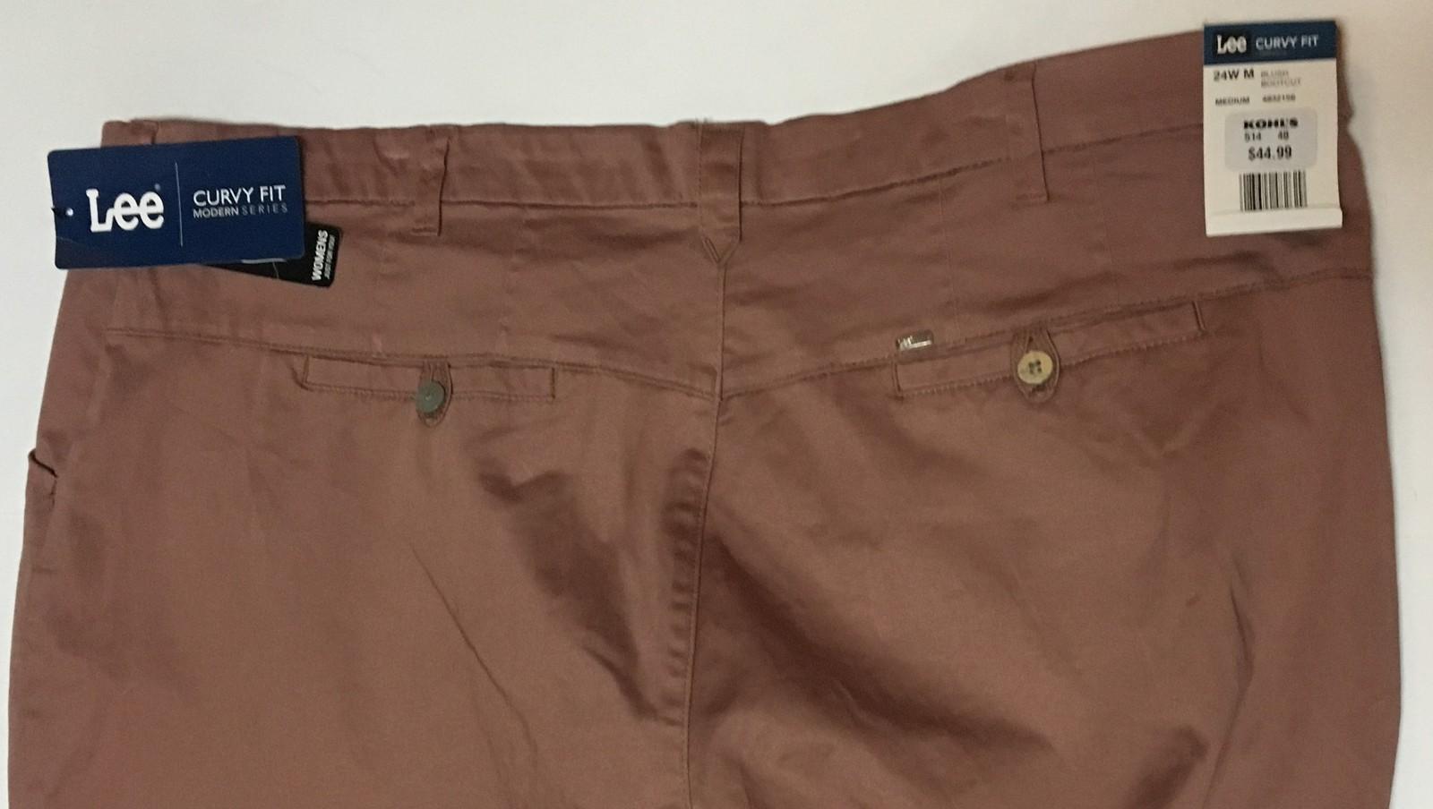 Lee Modern Series Curvy Fit Bootcut Pants 24 W Medium Fuchsia