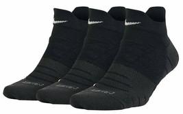 NIKE Women's 3 Pairs Dry Cushion Low Socks Black Medium 6-10 SX6070-010 - $18.99