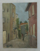 View by Country Old Painting oil On Board Signed Painting Vintage BM40 - $169.43