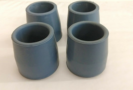 """Walker Commode Rubber Tips Gray 4 Pack 1"""" Skid Resistant Secure Traction... - $9.49"""