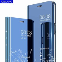 Flip Leather Telefon Cover Huawei p20 p20pro p20lite Smart Mirror Mobile... - $12.35
