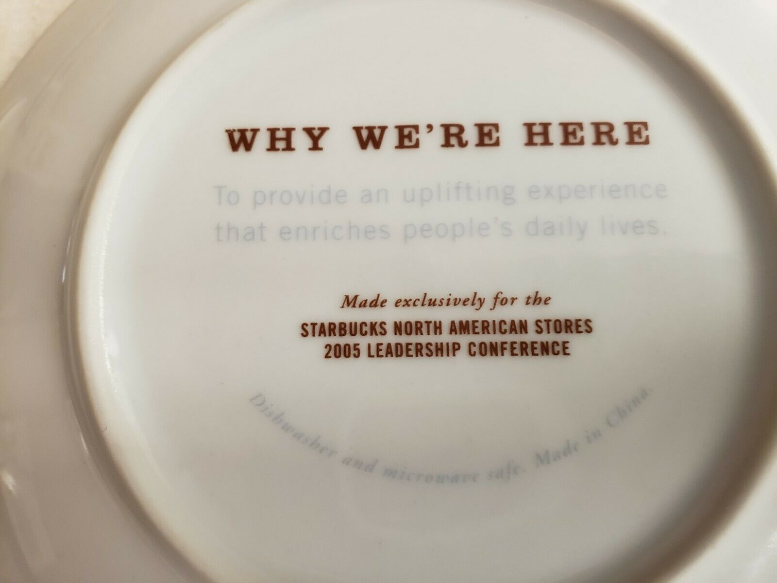 Starbucks 5 Plates North American Stores Leadership Conference 2005 In Box image 12