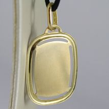 SOLID 18K YELLOW GOLD AQUARIUS ZODIAC SIGN MEDAL PENDANT ZODIACAL MADE IN ITALY image 8