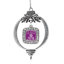 Inspired Silver Purple Class of 2018 Classic Holiday Christmas Tree Orna... - $14.69