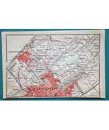 "1905 BAEDEKER MAP - Holland Haague 's-Gravenhage City Plan  4"" x 6"" (10 ... - $6.75"