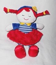 Baby Gear Girl Doll Plush Stuffed Toy Red Blue White Stripe Braids Babygear - $16.79