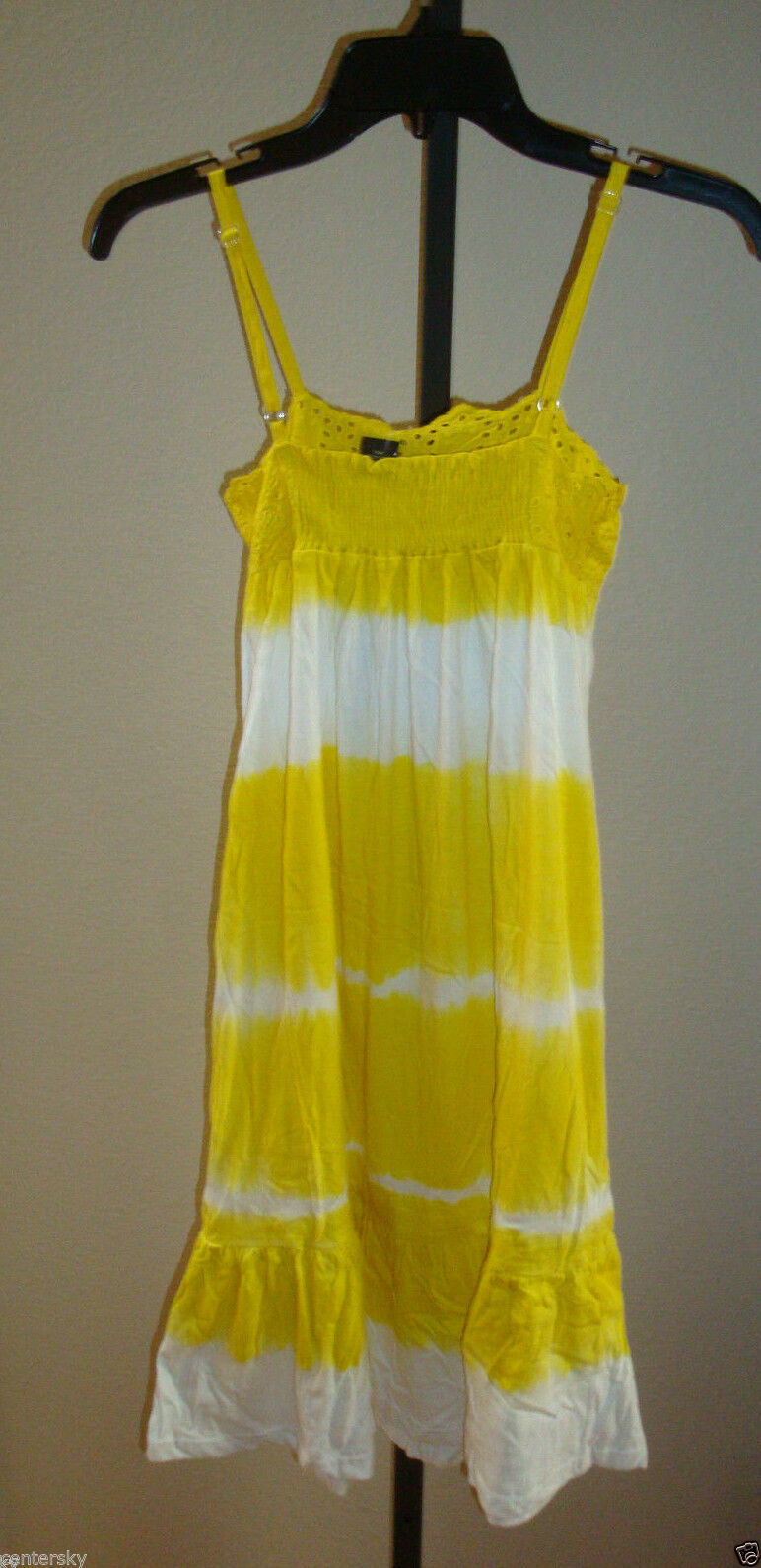 New $39 Raviya Women's Swimsuit Cover-up Lounge Beach Dress Yellow Wht Tie Dye S image 2