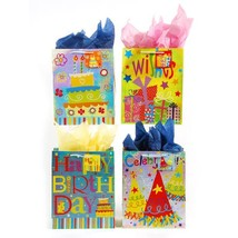 13W x 18H x 5 1/2G Extra Large Birthday Confetti Printed On Hologram, 4 ... - $230.94
