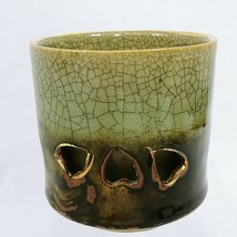 Coffee Cup Tea Cup Somayaki Double Wall Soma Ware Horse Crackle Finish 3... - $15.80